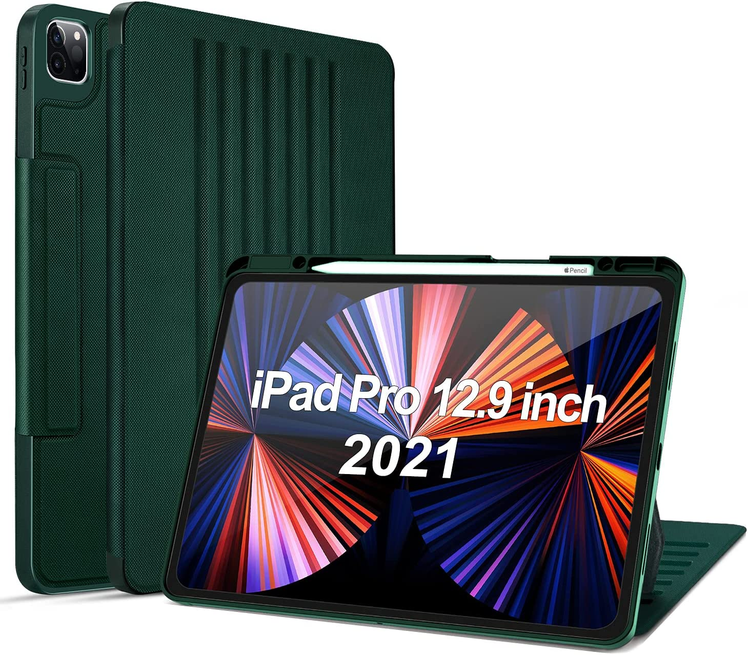 OFFicial site OCYCLONE iPad Pro 12.9 Case half 2021 Sta 7 Magnetic 5th Generation