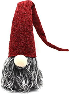 CVHOMEDECO. Handmade Swedish Gnome Plush Figurines Swedish Tomte for Home Décor, Winter Ornaments, Christmas and Holiday Party Decorations, 26 Inches, Red Hat