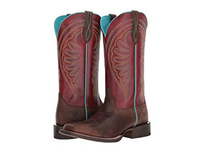 Ariat Circuit Shiloh (Weathered Brown/Risky Red) Cowboy Boots