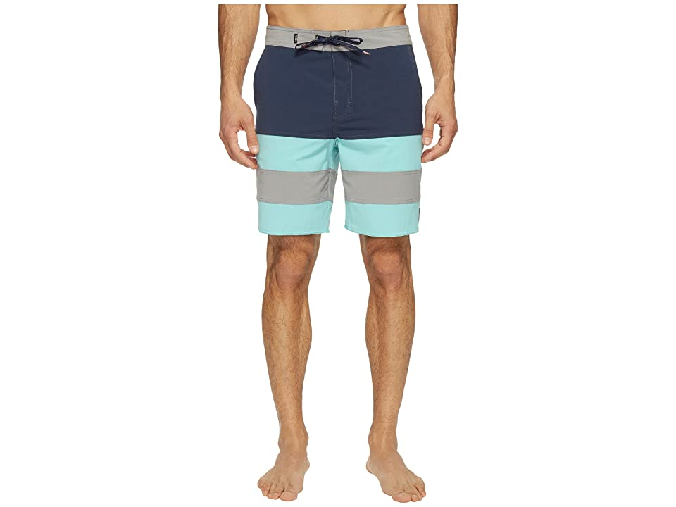 Vans Era Panel Boardshorts 19 (Dress Blues/Aqua Sky) Men