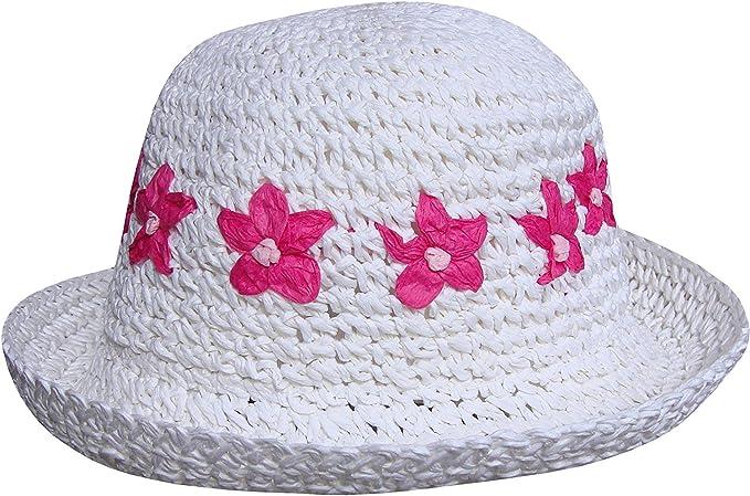 TeddyTs Girls Tropical Flowers Hawaiian Summer Beach Sun Hat