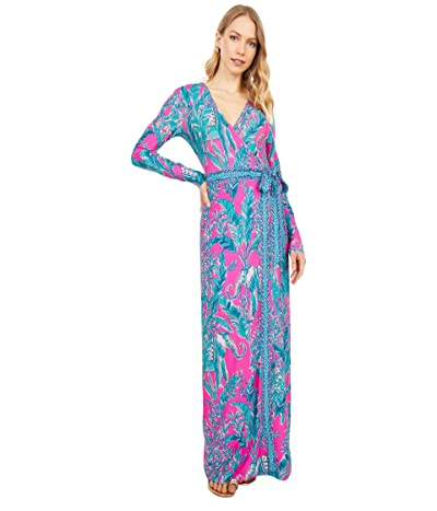 Lilly Pulitzer Marseilles Maxi Dress (Mandevilla Pink Talk Story To Me Engineered Maxi) Women