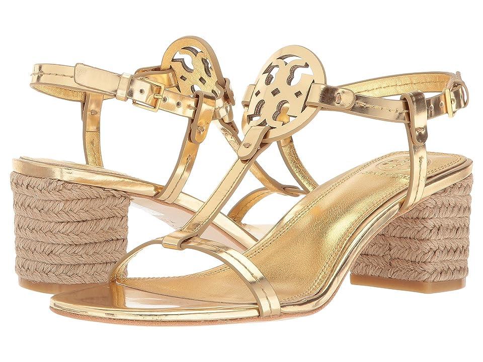 Tory Burch Miller 65mm Espadrille Sandal (Gold) Women