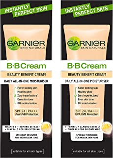 Garnier Skin Naturals BB Cream, (Pack of 2) 30 gm + 30 gm