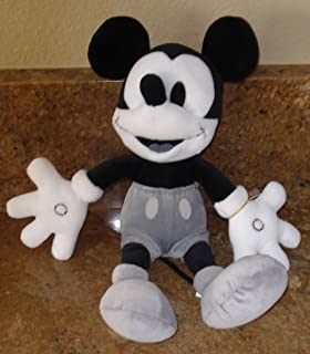 Mickey Mouse Bean Bag Plush in Black,White and Grey From Disneyland Tokyo - 11 Inches