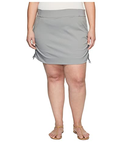 Columbia Plus Size Anytime Casualtm Skort (Light Grey) Women