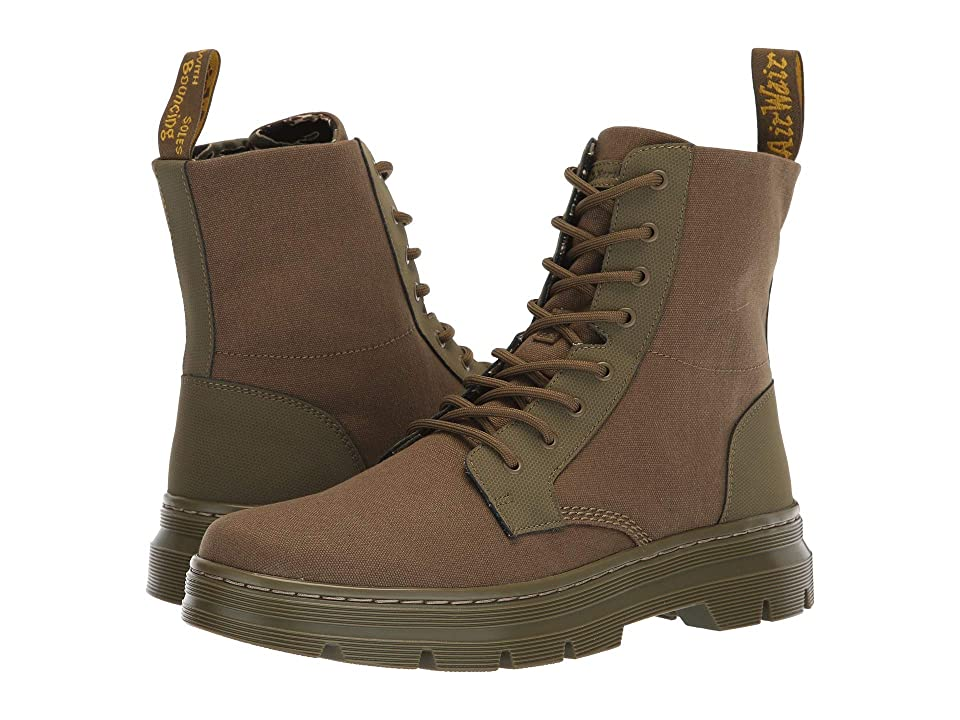 Dr. Martens Combs II Tract (DMS Olive Broder/DMS Olive 10oz Canvas) Boots