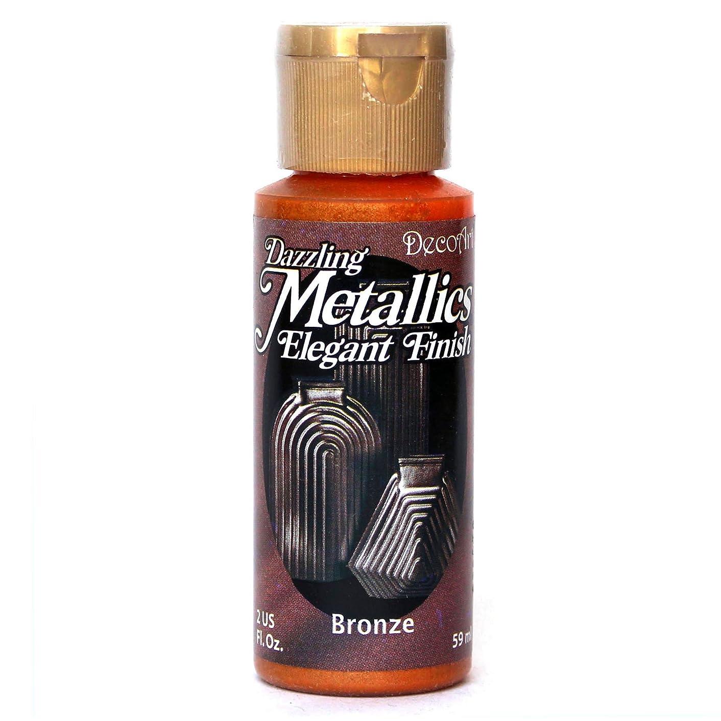 DecoArt Dazzling Metallics 2-Ounce Bronze Acrylic Paint