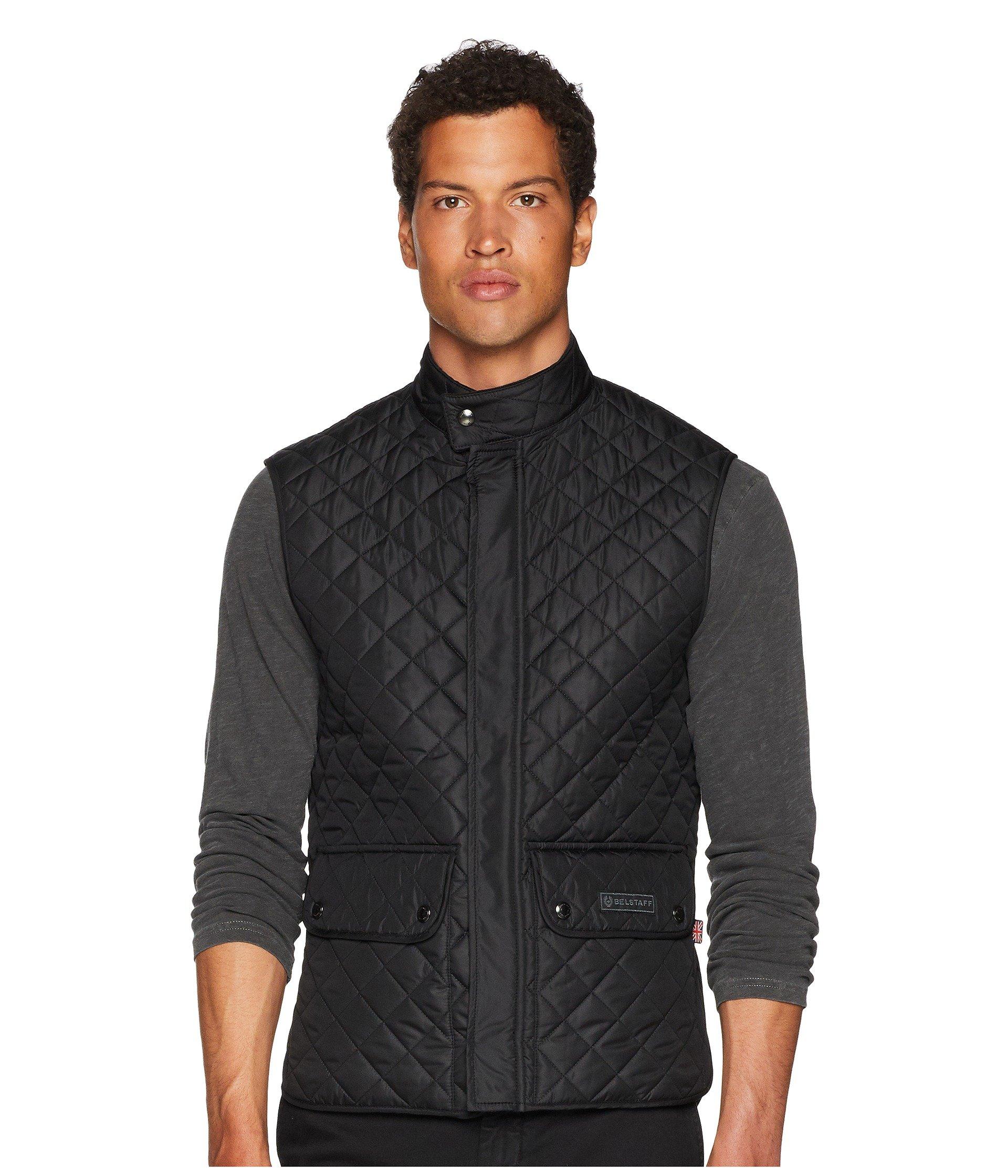 Quilted Lightweight Waistcoat Technical Belstaff Black THqOOExd