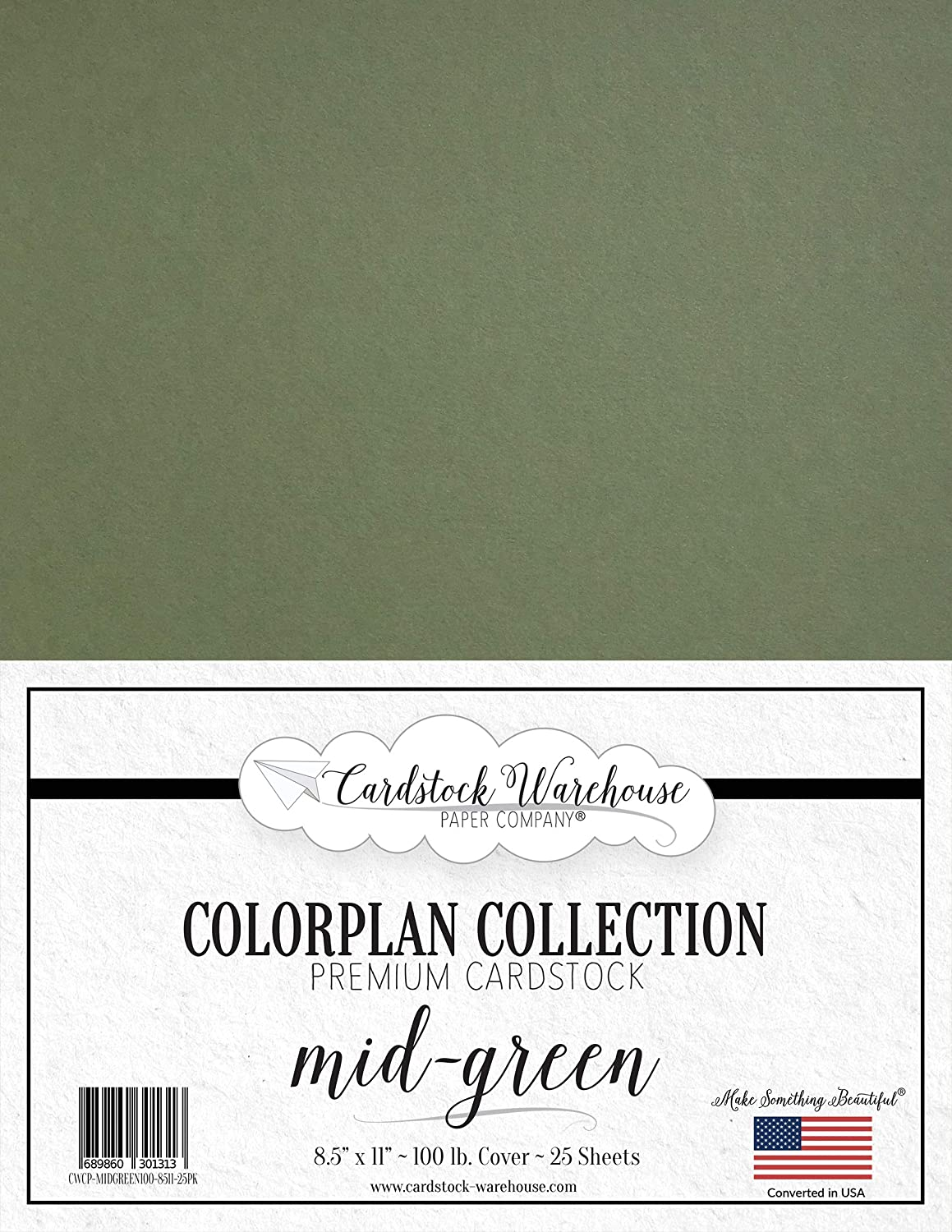 Mid Super sale period limited Green Cardstock Paper - Now on sale 8.5 x 100 lb. Cover 11 inch Premium