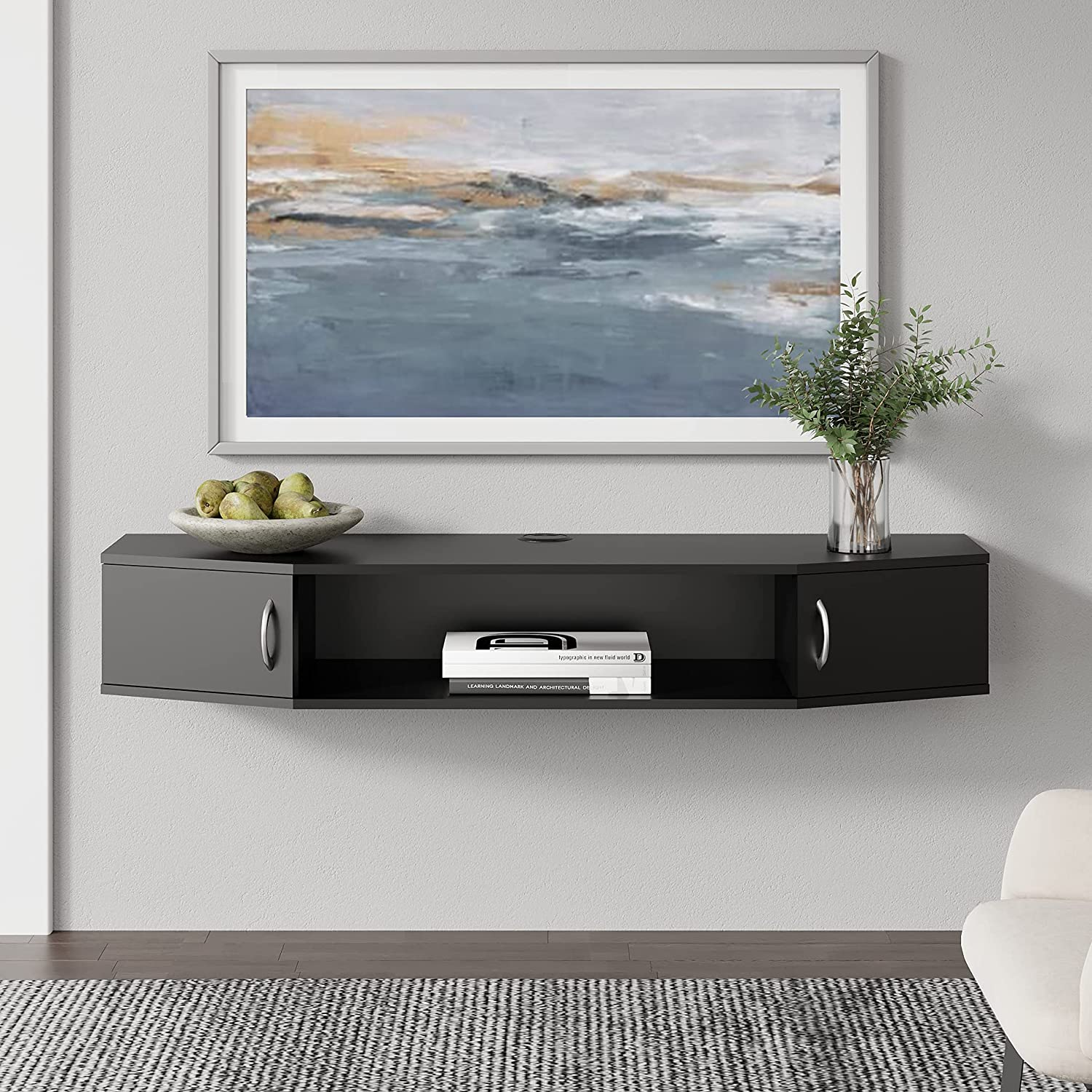 Floating Austin Mall TV Stand Wall Media Max 57% OFF Mounted Console Enterta