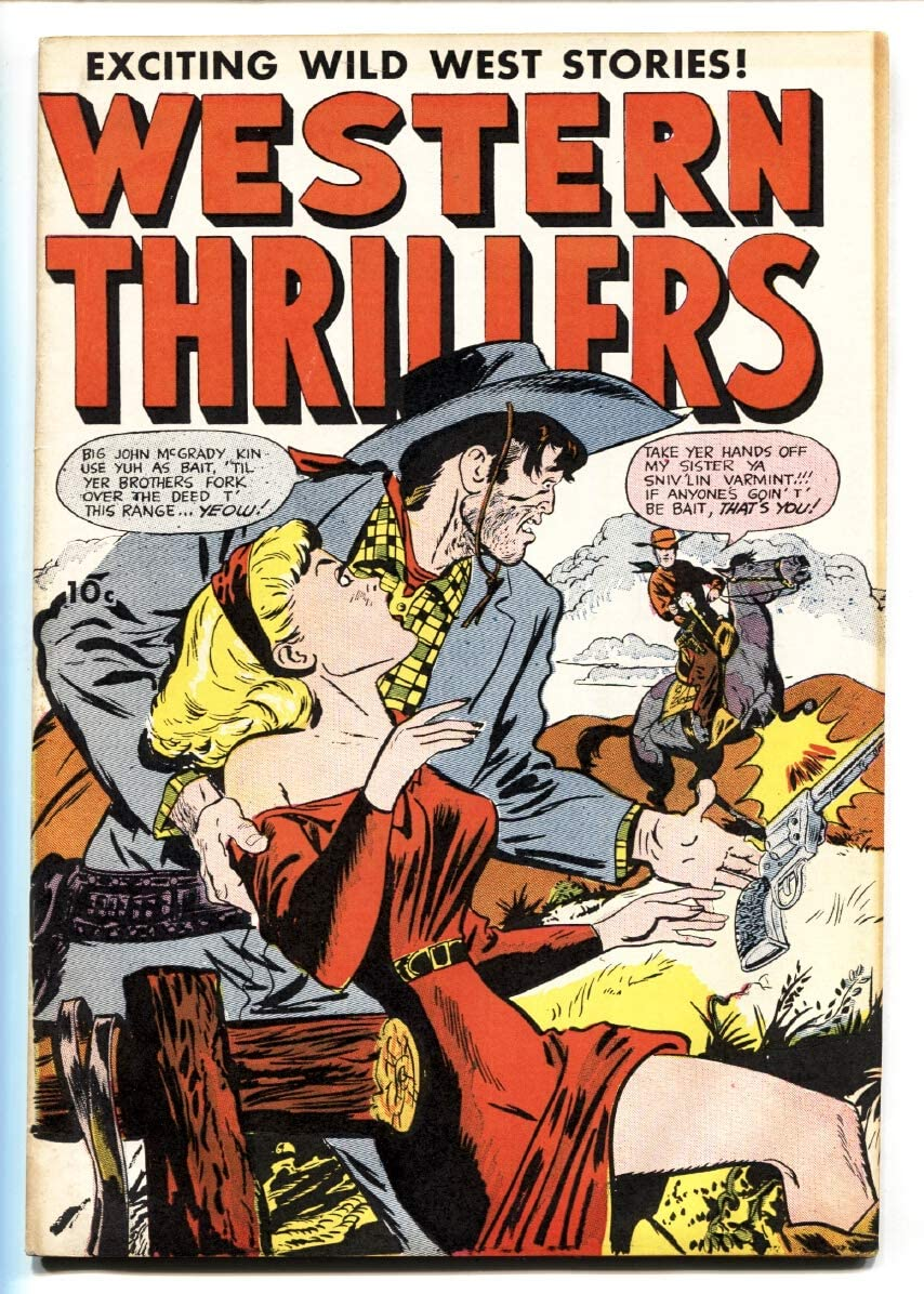 Western Thrillers #52 Easy-to-use 1954- Fox Cover-Golden-Age Max 76% OFF Comics-Double