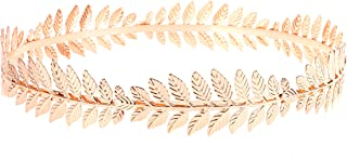 Greek Goddess Headband Costumes/Gold Leaf Branch Hair Band Crown/Bridal Wedding Headpiece