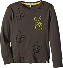 Appaman Kids - Super Soft Peace Long Sleeve Tee (Toddler/Little Kids/Big Kids)