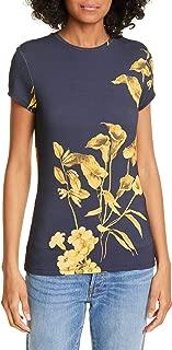 London Dark Blue Roslo Fantasia Floral Graphic Tee