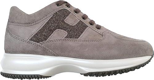 Hogan Sneaker Donna Interactive Beige in Suede - HXW00N0S360 ...