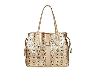 MCM Shopper Project Visetos Shopper Medium (Berlin Gold) Handbags