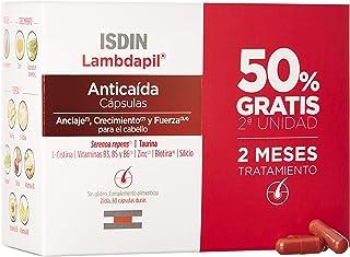 ISDIN Lambdapil Cápsulas Anticaída del Cabello 120 Cápsulas (Pack 60+60) 50% Gratis Fortalece el Cabello y Reduce la Ca...