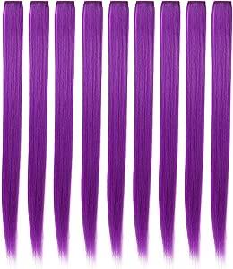 Perruques pour poupees Extensions cheveux colores Clip pour les filles...