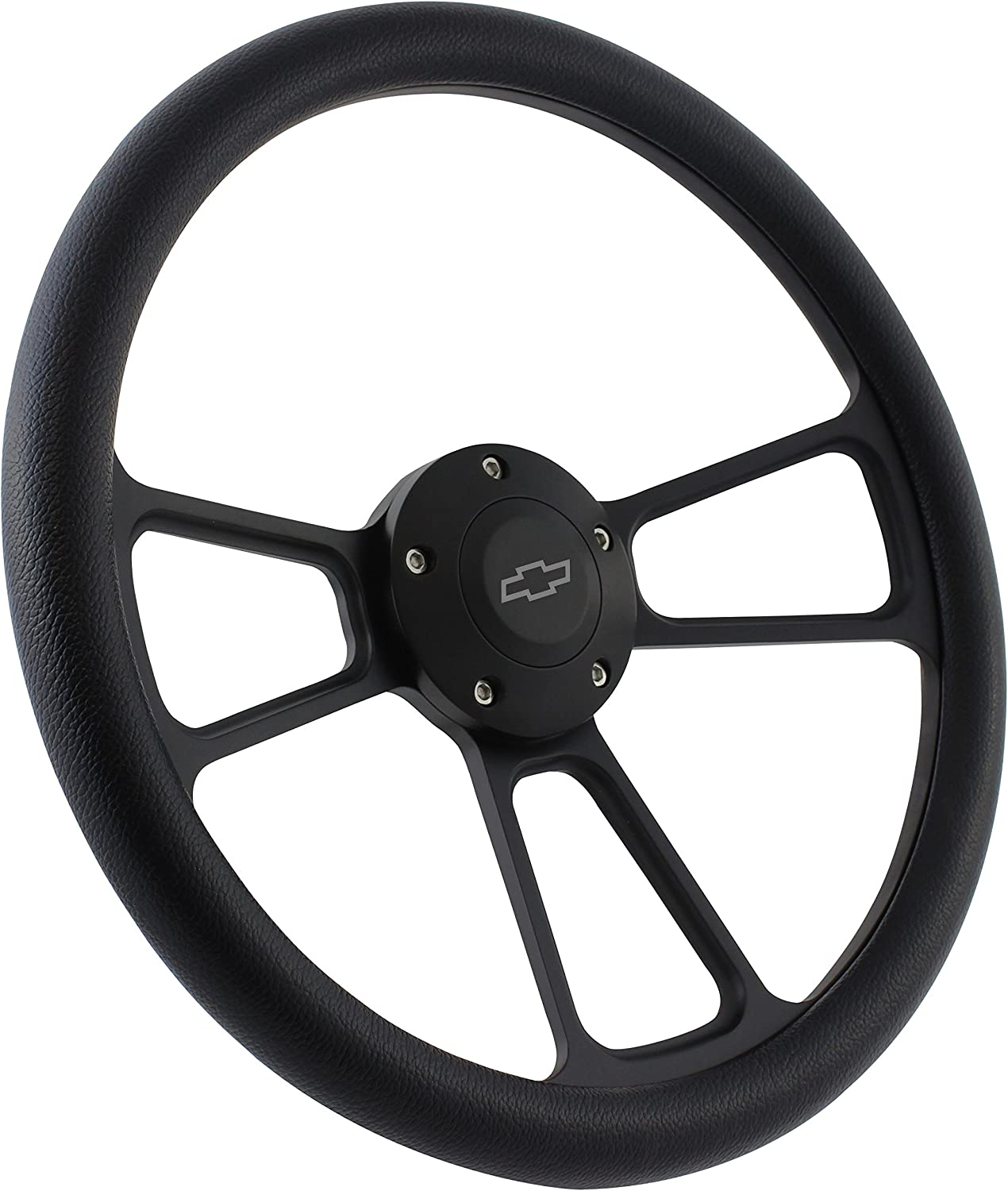 Black Shipping Max 62% OFF included Steering Wheel 14 Inch Wrap Vinyl Aluminum with Half