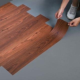 LC&TEAM 90x15 cm vinylvloer houtlook vloerbedekking zelfklevend vloerbedekking dikte 0,50 mm decoratiefolie eiken plakfoli...