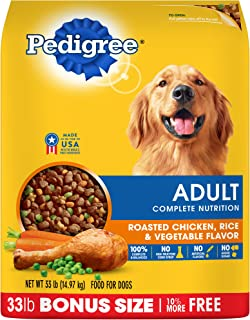 Pedigree Adult Dry Dog Food – Roasted Chicken, Rice & Vegetable Flavor