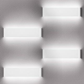 LEDMO 4 Pack Applique Murale Interieur LED 36CM Lampe Murale 6000K Blanc Chaud Moderne Up Down Appliques Murales 12W Lumin...