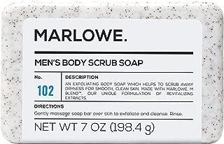 MARLOWE. No. 102 Men's Body Scrub Soap 7 oz   Best Exfoliating Bar for Men   Made..