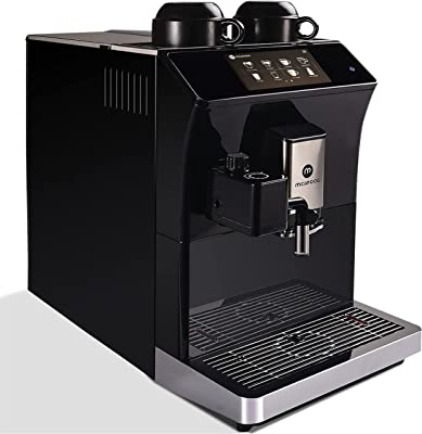 Espresso Coffee of Mcilpoog , Automatic Espresso Machine with Milk Frother,The Espresso Machine with Milk Frother Contains 16 Flavors such as Latte, Cappuccino, and Espresso.