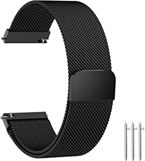Fullmosa Compatible Gear S3 Bands, 22mm Watch Band Quick Release Compatible Samsung Galaxy 46mm/Gear S3 Frontier/Classic,Huawei Watch 2 Classic/GT Watch Band, Black