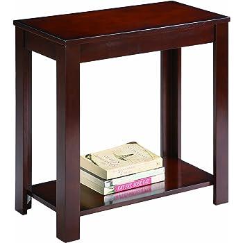 Crown Mark Pierce Chairside Table, Espresso
