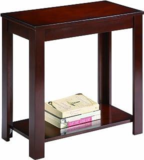 (Espresso) - Pierce Espresso Finish Chairside End Table By Crown Mark Furniture