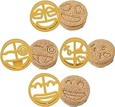 Emoji Sandwich Cutters 4 pk - Fun Bread, Food & Cookie Cutters w Emoji Designs - Great for Baking, Cooking & Kids Lunch or...