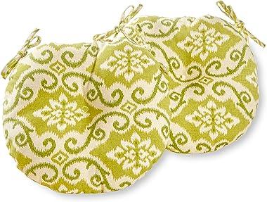 Greendale Home Fashions AZ5816S2-SHOREHAM Avocado Outdoor 15-inch Bistro Seat Cushion (Set of 2)