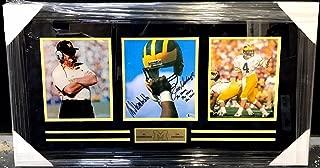Jim Harbaugh Bo Schembechler Signed Photo Michigan Wolverines Framed Beckett Coa - Beckett Authentication