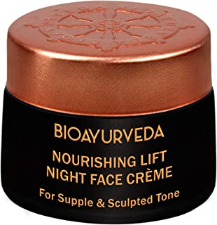 BIOAYURVEDA Nourishing Night Cream For Wrinkles, Fine Lines, Dark Spots, Pigmentation, Acne|Natural Moisturizer For Firm, Lift, Tone,Soft Skin|Anti-Aging With Vitamin C,E Hyaluronic|No Parabe (1.4 Oz)