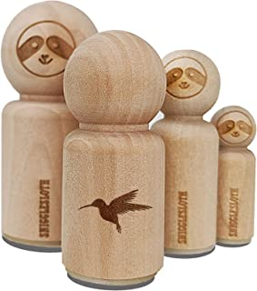 Hummingbird Silhouette Rubber Stamp for Stamping Crafting Planners - 1/2 Inch Mini