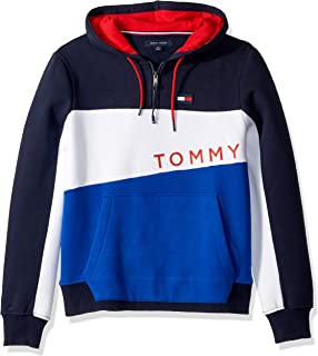 Tommy Hilfiger Men's Adaptive Hoodie Sweatshirt with Extended Zipper Pull