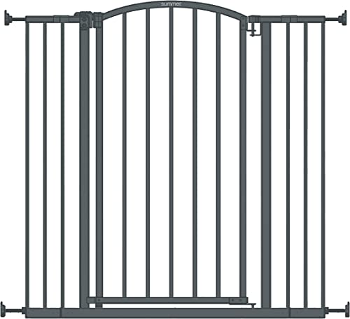 """Summer Extra Tall Decor Safety Baby Gate, Gray – 36"""" Tall, Fits Openings of 28"""" to 38.25"""" Wide, 20"""" Wide Door Opening..."""