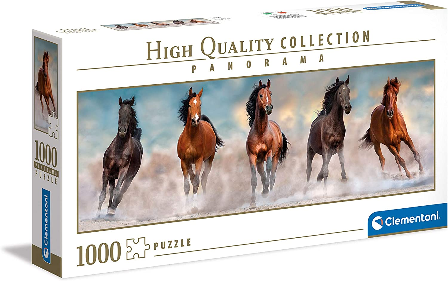 Clementoni Collection 39607, Horses Panorama Puzzle for Children