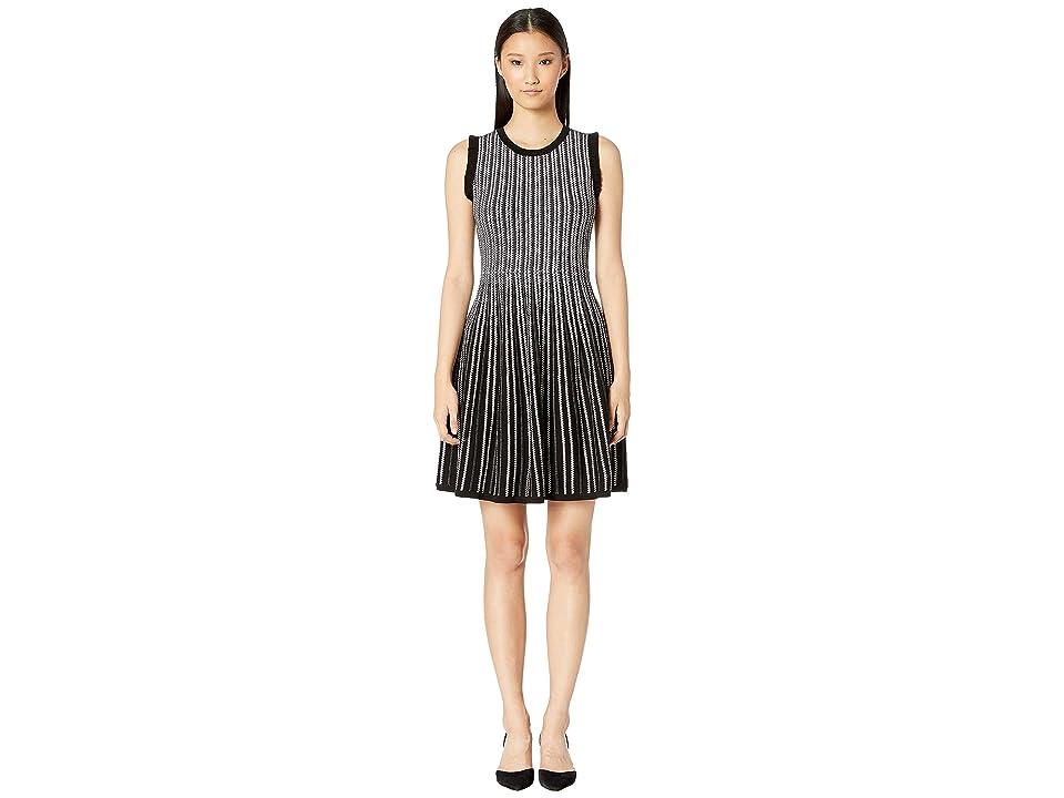 Kate Spade New York Dashing Beauty Textured Sweater Dress (Black) Women