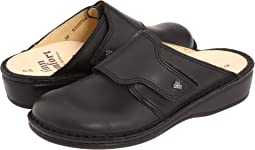 Black Leather Soft Footbed