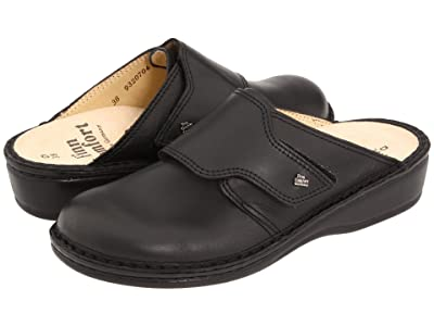 Finn Comfort Aussee 82526 (Black Leather Soft Footbed) Women