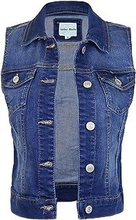 48b630697c82 Instar Mode Women s Classic Casual Vintage Denim Jean Jacket Vest