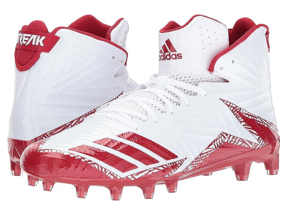 adidas freak X CARBON Mid Football (White/Red/Red) Men