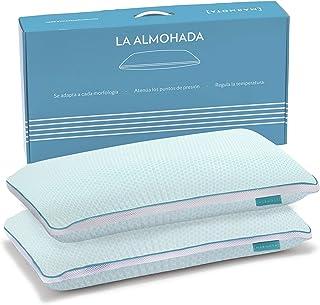 MARMOTA Almohada Premium, Suave, Adaptable, Envolvente y Transpirable - Pack de 2 Unidades 70 x 35 x 12 cm