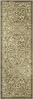 Maples Rugs Pelham Vintage Runner Rug Non Slip Hallway Entry Carpet [Made in USA], 2 x 6, Khaki