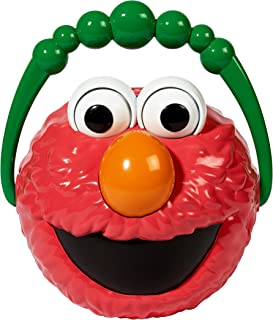 Little Kids Sesame StreetGiggle and Speak Elmo No-Spill Motorized Bubble Machine with 4 oz bubble solution Toy, Red