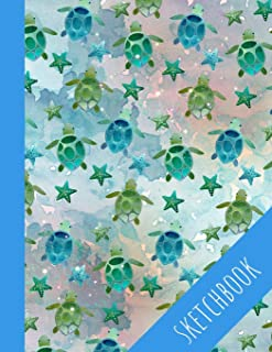 Turtle Sketchbook: Cute Sketchbook With See Turtles, Perfect For Kids, Large Blank Pages For Drawing