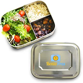 Stainless Steel Reusable Lunch Container | 3-Compartment Bento Box | Eco-Friendly Metal Food Storage Lunchbox | Perfect for School and Office Meal Prep